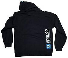 SPARCO SP04100NR5XXL WWW Zip-Up Hooded Sweatshirt Black