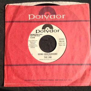 THE-JAM-soiree-UNDERGROUND-Rare-USA-White-Label-PROMO-17-8cm-Co-MANCHE-mod