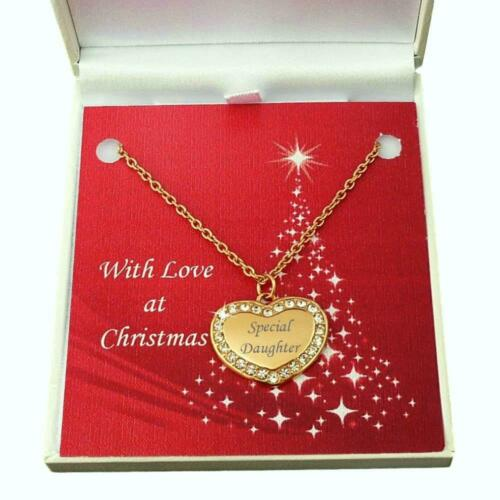 Gift Boxed. Rose Gold Heart Necklace with Personalised Engraving for Christmas