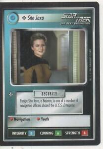 "Star Trek TNG CCG Federation COMMON Card ""Sito Jaxa"""