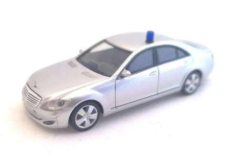 W221 Polizei SEK Personenschutz silber Herpa 1:87,Mercedes S Klasse