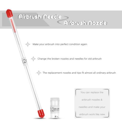 Airbrush Düse und Nadel Ersatz für Airbrushes Spritzpistole Sprühen DE F9C3
