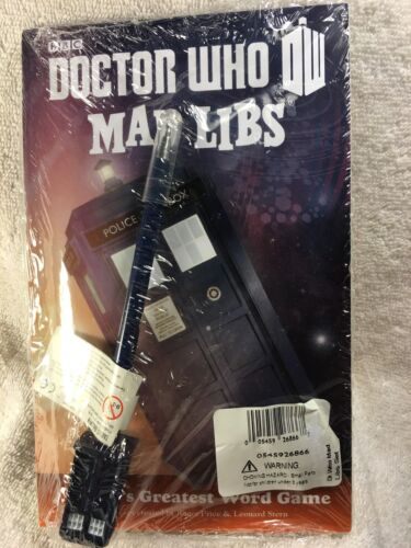Doctor Who Mad Libs Book With Tardis Pen Set New Sealed 2014