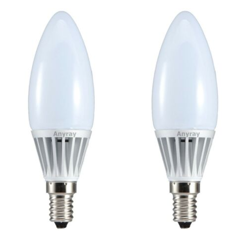 E12 Candelabra Chandelier Wall Lights 2 -Bulbs LED Candle 40W 50W Replacement