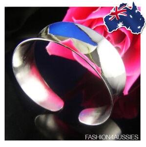 925-Sterling-Silver-Bracelet-Bangle-Wide-Heavy-Cuff-Plain-Broad-Chunky-2-5cm