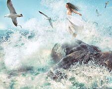 Picture of Women & Waves 8X10 Color Art Print Photo Photograph Ocean Girl Coast