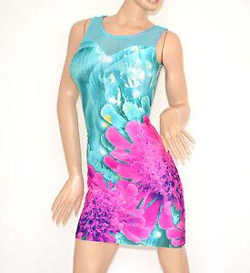 cfd5044cc3c0 Caricamento dell immagine in corso Vestito-tubino-donna-mini-abito- giromanica-floreale-copricostume-