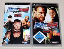2 PSP SPIELE SET - SMACKDOWN VS RAW 2008 & 2009 - NEUWERTIG - ECW WWF WWE