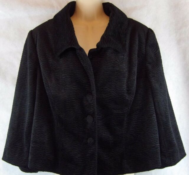 7004a580d5b Lane Bryant Black Texture Dressy Short Button Coat Size 16 NWT ( 99.50)