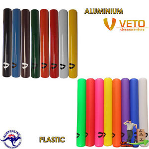 Relay-Batons-Junior-or-Senior-Plastic-or-Aluminium-sets-of-8