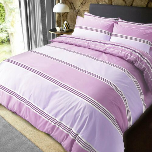 Banded Stripes Luxury Duvet Covers Quilt Cover Reversible Bedding Sets All Sizes