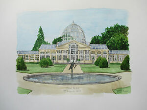 Image Is Loading Watercolour Painting Of Wedding Venue Personalised With Bride