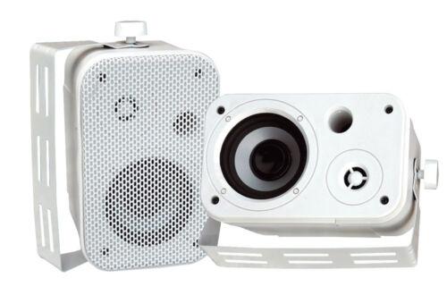 Brand New Pair PYLE PDWR30W 3.5/'/' Indoor//Outdoor Waterproof On-Wall Speakers