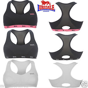 Lonsdale Womens Ladies Crop top sports running gym Bra Various sizes /& colours