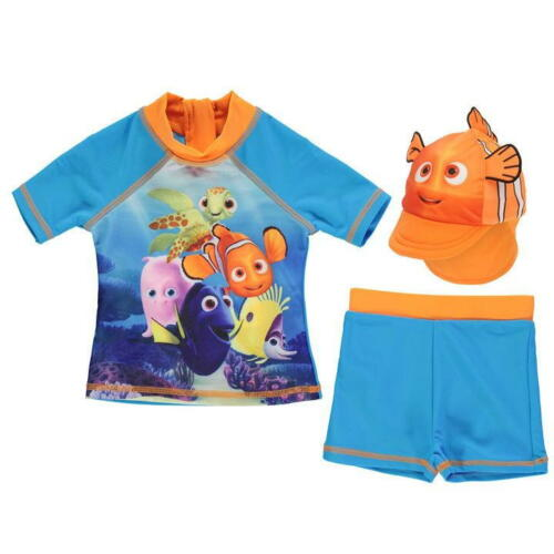 Babies Girls Boys Branded Character Disney Print 3 Piece Swim Set Size 0-24 Mnth