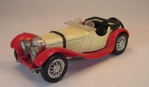 Solido France 1/43 Nr. 4002 Jaguar SS 100 Cabrio creme/rot #3694