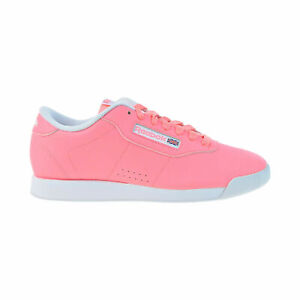 reebok princess womens leather walking casual shoes sour
