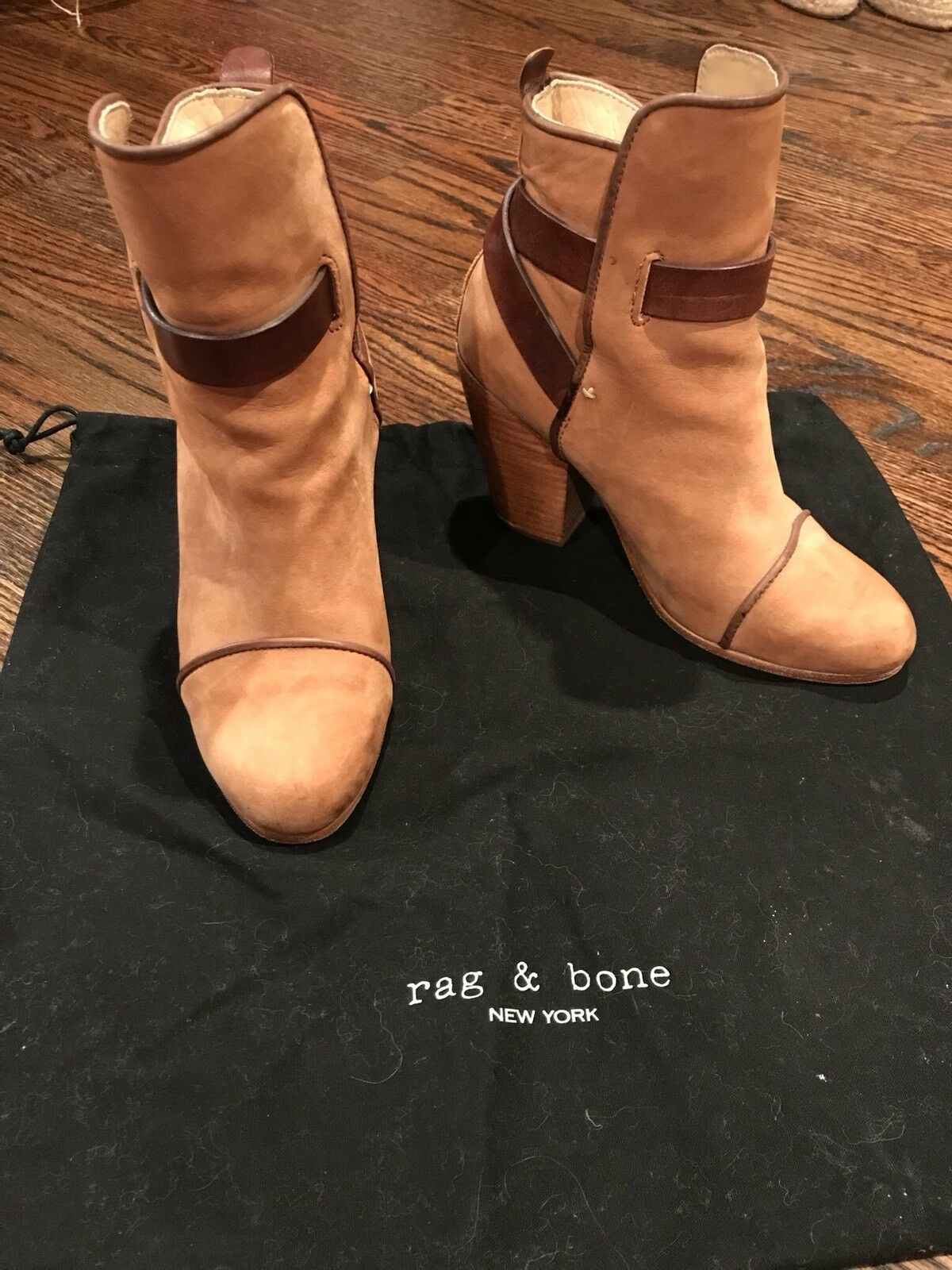 Rag & Bone Kinsey Ankle Boot in camel and brown, Size 36.5 6.5