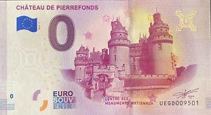 BILLET-0-EURO-CHATEAU-DE-PIERREFONDS-FRANCE-2019-NUMERO-9501