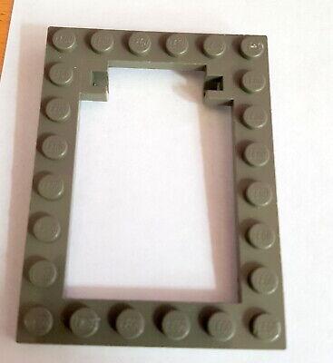 Rahmen 30041 30042 alt hellgrau schwarz   6x8 Lego 1 x Falltür