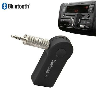 Bluetooth Wireless Music Receiver Adapter 3.5mm Stereo Audio for Galaxy S5 S6 SH