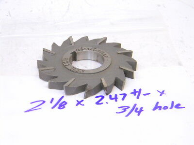 "Staggered Tooth 2-1//8 x 3//8 x 3//4/"" HSS Side Milling Cutter"