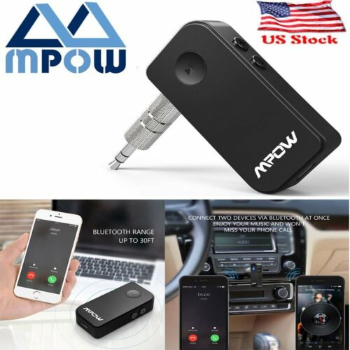 Mpow Wireless Bluetooth 3.5mm Car Aux Audio Stereo Music Receiver Adapter