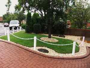 Plastic-UPVC-Premier-Fence-Post-for-Garden-Chain-Link-Fence-Black-Or-White