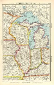 Details about 1952 MAP ~ UNITED STATES EAST ~ WISCONSIN ILLINOIS INDIANA on map of illinois cities, map of west virginia and tennessee, map of iowa freedom rock in the tour, map of iowa small towns, iowa state map illinois, map of bridges of madison county iowa, map of iowa online, map of quad cities and surrounding area, map of dubuque iowa, map of church camps in illinois, big map of illinois, map of iowa casinos, street map clinton illinois, map of quincy illinois, map of iowa print, map of missouri, map of the state of iowa, oakland city hall illinois, map of minnesota iowa border, map of iowa counties,