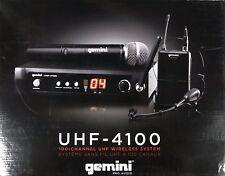 Gemini - UHF-4100M - Wireless Single Microphone Transmitter/Reciever System