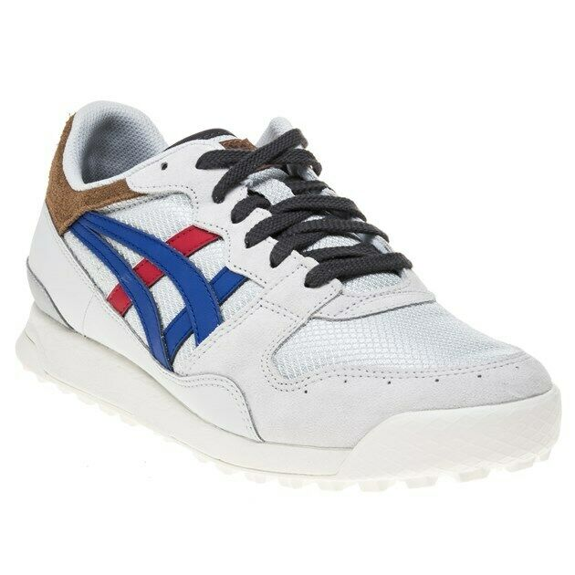 best sneakers 7acdf fbdfc New Mens Onitsuka Tiger White Grey Horizonia Nylon Trainers Retro Lace Up