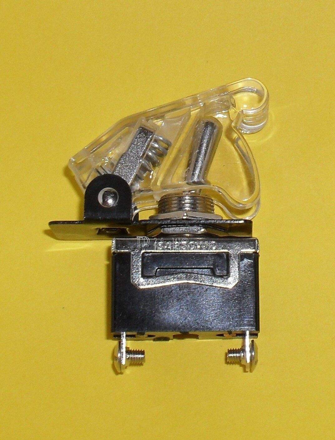 1 SPST On/Off Full Size Toggle Switch with CLEAR Safety Cover