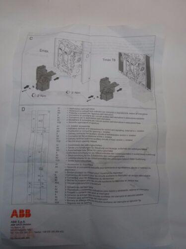 ABB zusätzlicher Arbeitsstrommauslöser Emax Tmax 1SDA050163R1 SHUNT OPEN.RELEAS