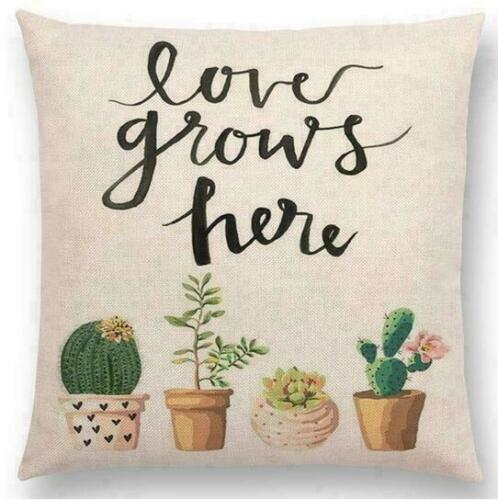 18inch Flowers Garland Sofa Decor Letter Confidence Love Hope Pillow Cases
