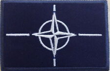 NATO Badge, Patch, Army, Military, Arm, Sleeve, Blue NO-834