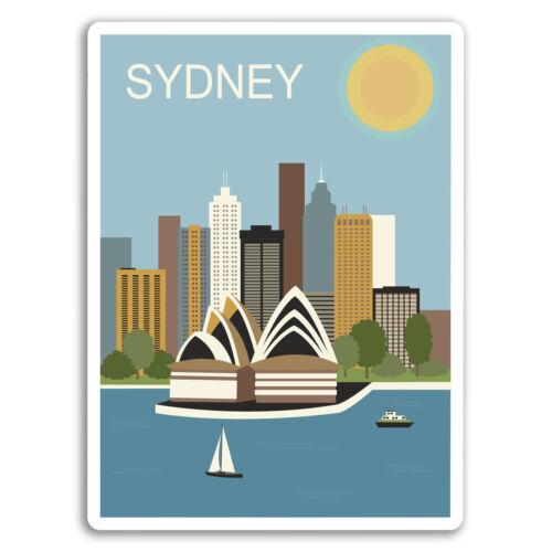 Car Van Tool Box Luggage Gift #10927 2 x Sydney Australia Vinyl Stickers