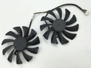 for-1pair-HA9010H12SF-Z-smart-graphics-dual-fan-4-pin-interface-cooling-fan-12V