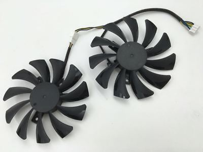 for 1pair HA9010H12SF-Z smart graphics dual fan 4-pin interface cooling fan 12V