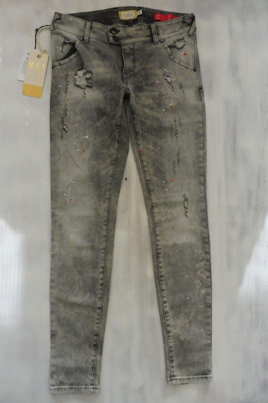 MET  H-K-Fit High Waist Skinny Jeans Jeans Jeans Hose used grau Gr S 36 38 W29 L30 Neu | Das hochwertigste Material  | Authentisch  | Moderne Muster  | Genialität  | Hervorragende Eigenschaften  5cbdea