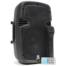 "ENCEINTE PORTABLE MOBILE AMPLIFIEE 8"" 350W BATTERIE MICRO VHF USB/MP3/BLUETOOTH"