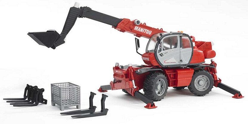 BRU2129 - Engin télèscopique MANITOU MRT 2150 avec accessoires jouet BRUDER - 1