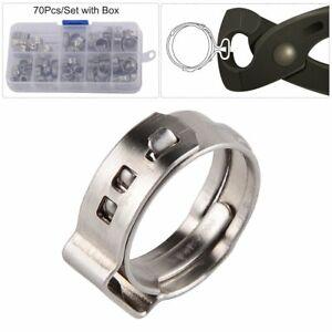 70Pcs-Grip-Clamp-PEX-Clamp-Cinch-Rings-Crimp-Pinch-Hose-Clamp-Fitting-Multi-size