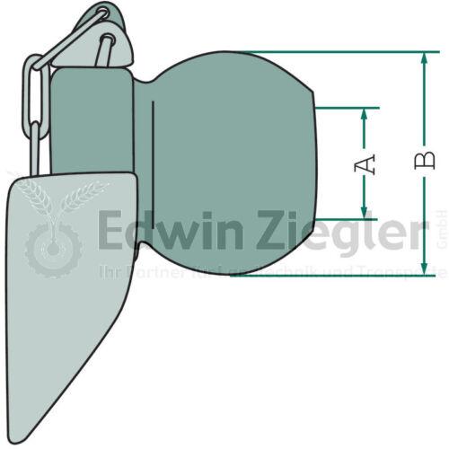 Kugeln Kat 2 mit Fangscheiben innen 28mm Hydraulik Unterlenker Schlepper  2 St