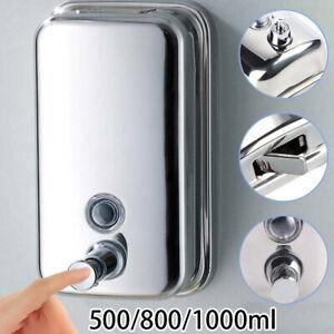 Shampoo-Sapone-Dispenser-Dispenser-da-Parete-Inossidabile-Acciaio-Casa-Ufficio
