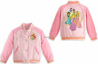 Eight Princess Pink School Varsity Jacket For Girls Disney Store 4 5/6 7/8 9/10