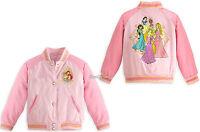 Eight Princess Pink School Varsity Jacket For Girls Disney Store 4 5/6 7/8 9/10