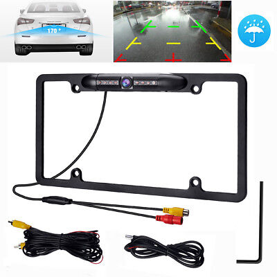 HP 1080P Infrared LED Car Reverse Backup Rear View Camera for US License Plate