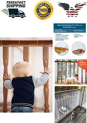 Roving CoveBanister GuardBaby Safety Stair Railing NetBaby Proofing