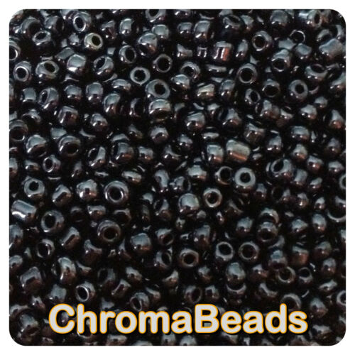 choose size 6//0 8//0 11//0 100g BLACK OPAQUE LUSTERED glass seed beads 4, 3, 2mm