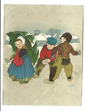 Old Trade Card Diamond Dyes Wells Richardson Burlington Vermont Dutch Children